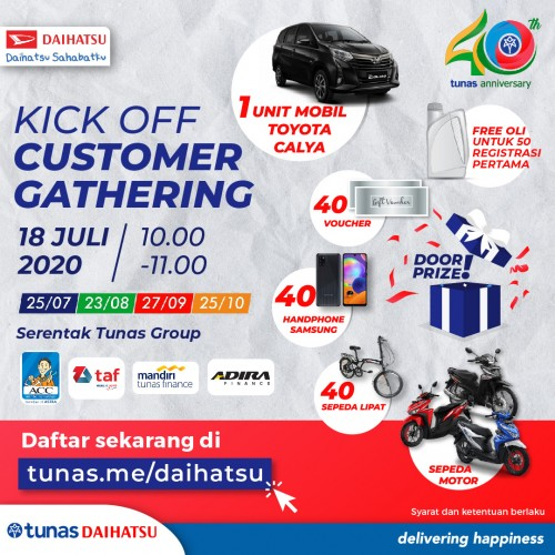 Daihatsu Bandung 40 Tahun Tunas Berbagi, New Era Digitalisasi 4.0, Gebyar Hadiah Selama 4 Bulan